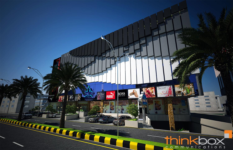 3D Mall of Multan Exterior Render