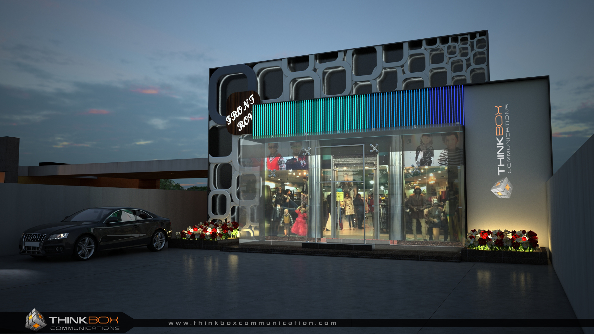 3D Exterior Boutique Render